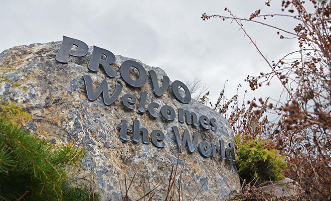 Welcome Provo Sign