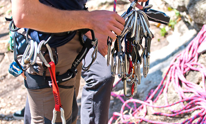 ropes and carabiners