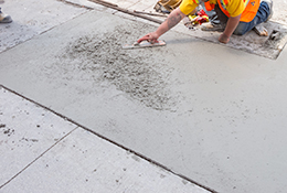 Laying cement