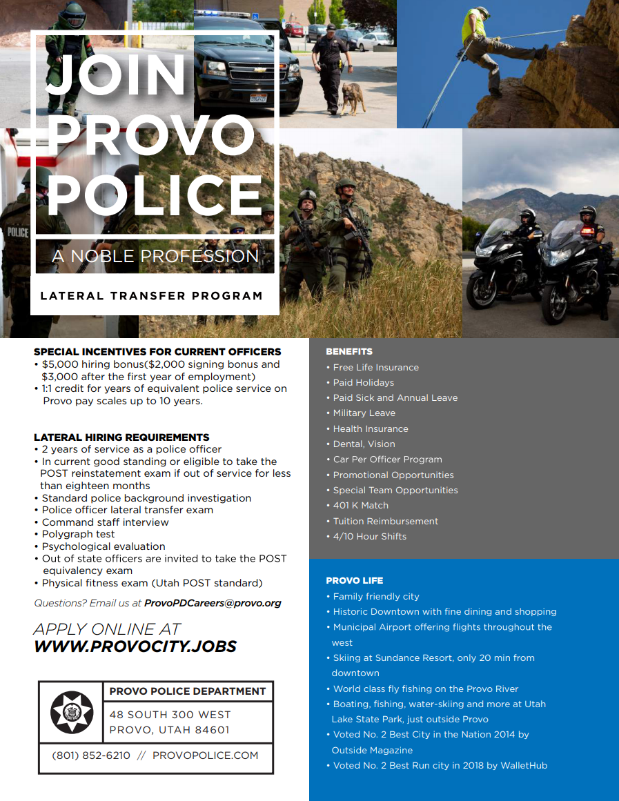 Join Our Team | City of Provo, UT