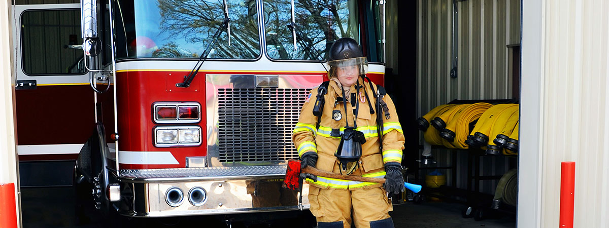 lady-in-front-of-fire-engine